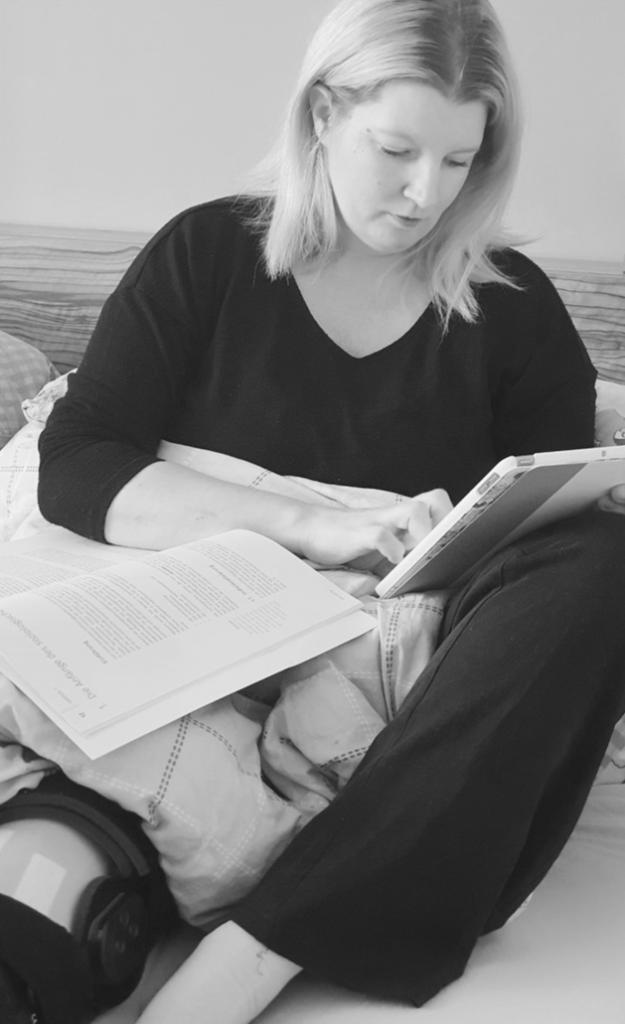 Lässt sich nicht ausbremsen: Alexandra lernt im Krankenbett